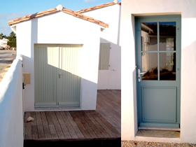 Porte portail bois fabrication charente maritime for Portes de service en bois