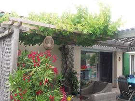 Terrasse bardage bois fabrication charente maritime - Jardiniere avec claustra ...